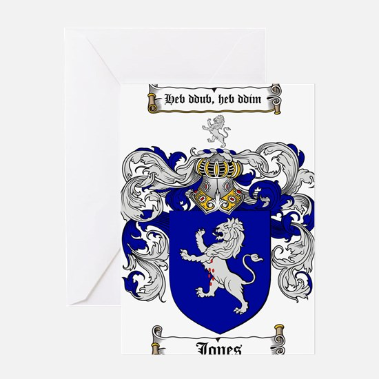 jones coat of arms Greeting Card