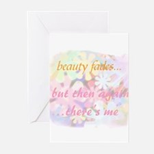 beauty fades... plastic surge Greeting Cards (Pack