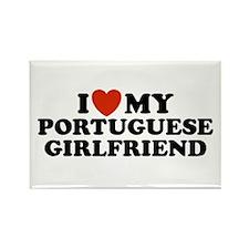 I Love My Portuguese Girlfriend Rectangle Magnet