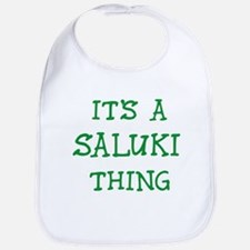 Saluki thing Bib