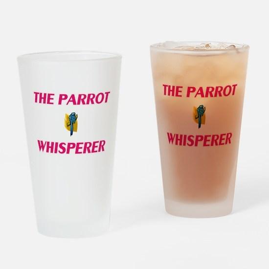 The Parrot Whisperer Drinking Glass