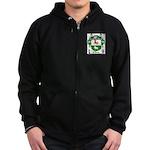 O'Leary Family Crest Zip Hoodie (dark)