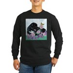 Newfoundland Puppy Long Sleeve Dark T-Shirt