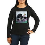 Newfoundland Puppy Women's Long Sleeve Dark T-Shir