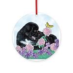 Newfoundland Puppy Ornament (Round)
