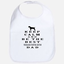 Wirehaired Pointing Griffon Dad Designs Bib