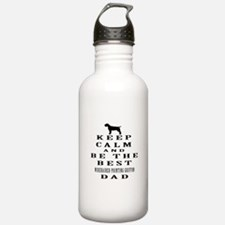 Wirehaired Pointing Griffon Dad Designs Water Bottle