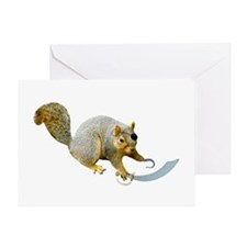 Pirate Squirrel Greeting Card