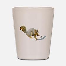 Pirate Squirrel Shot Glass