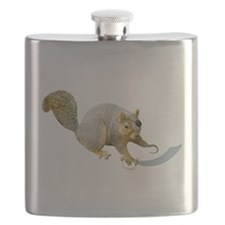 Pirate Squirrel Flask