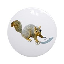 Pirate Squirrel Ornament (Round)