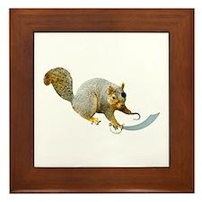 Pirate Squirrel Framed Tile