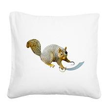 Pirate Squirrel Square Canvas Pillow