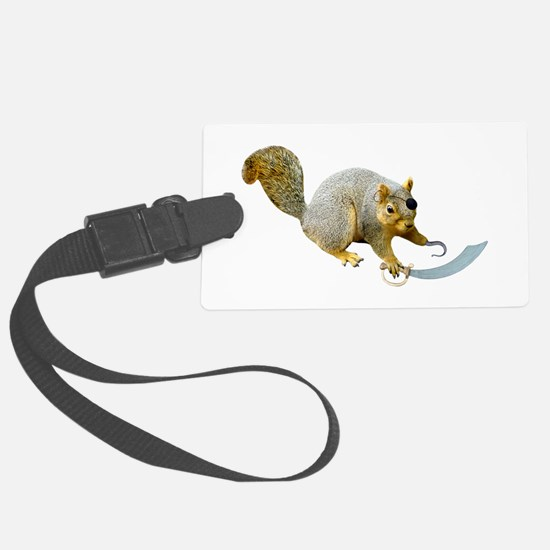 Pirate Squirrel Luggage Tag