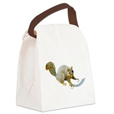 Pirate Squirrel Canvas Lunch Bag