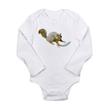 Pirate Squirrel Long Sleeve Infant Bodysuit