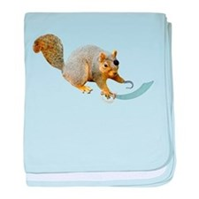Pirate Squirrel baby blanket