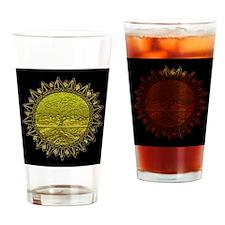 Sun Salutation Drinking Glass
