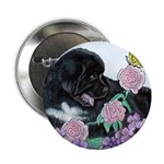 Newfoundland Puppy Button