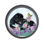 Newfoundland Puppy Wall Clock
