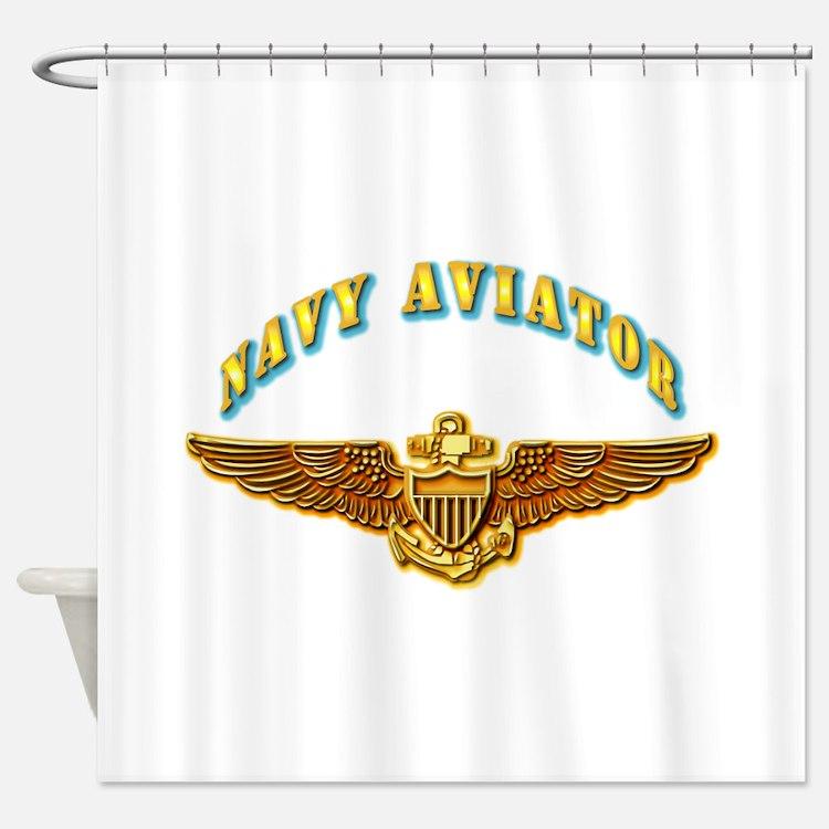 Naval Aviator Shower Curtains