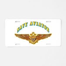 Navy - Navy Aviator Aluminum License Plate
