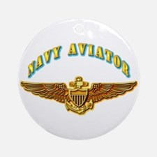 Navy - Navy Aviator Ornament (Round)