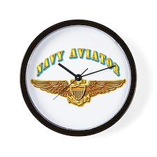 Navy - Navy Aviator Wall Clock