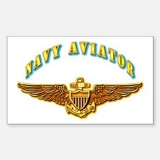 Navy - Navy Aviator Sticker (Rectangle)