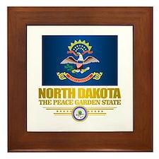 North Dakota Flag Framed Tile