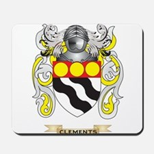 Clements Coat of Arms Mousepad
