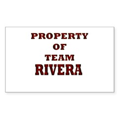 Property of team Rivera Rectangle Decal