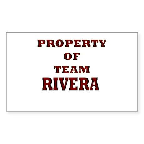 Property of team Rivera Rectangle Sticker