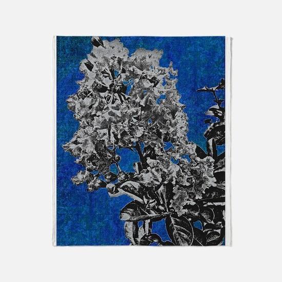 blue crepe myrtle Throw Blanket