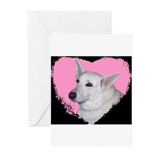 I Love My White German Shephe Greeting Cards (Pack