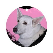 I Love My White German Shephe Ornament (Round)