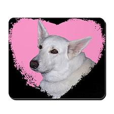I Love My White German Shephe Mousepad
