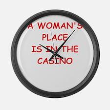 casino Large Wall Clock