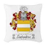 Santandrea_Italian.jpg Woven Throw Pillow