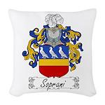 Soprani_Italian.jpg Woven Throw Pillow