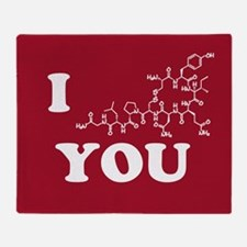 Oxytocin I Love You Throw Blanket