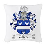 Tolomei Family Crest Woven Throw Pillow