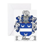 Tolomei Family Crest Greeting Card