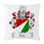 Tonini Coat of Arms Woven Throw Pillow