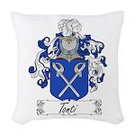 Tonti Coat of Arms Woven Throw Pillow