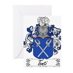 Tonti Coat of Arms Greeting Cards (Pk of 20)