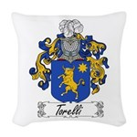 Torelli Coat of Arms Woven Throw Pillow