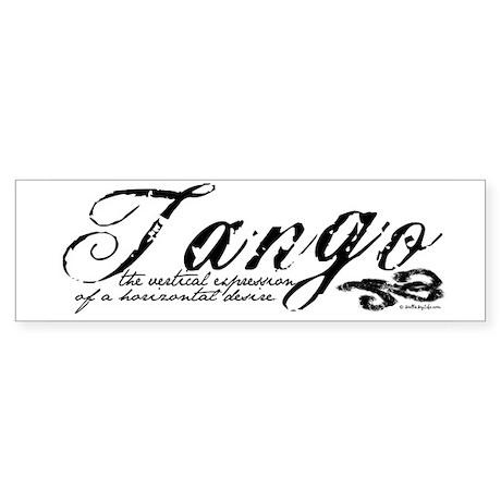 Tango Definition Bumper Sticker