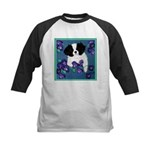 Japanese Chin Kids Baseball Jersey