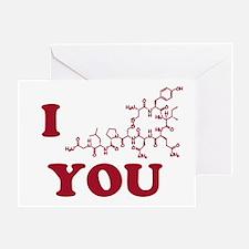 Oxytocin I Love You Greeting Card